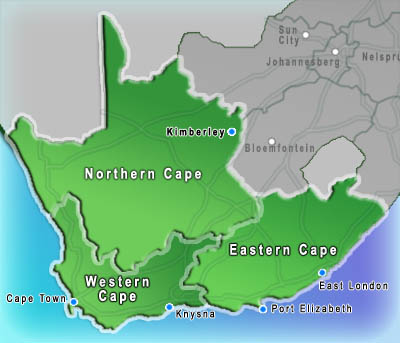 South Africa Map Search